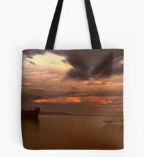 warm skies, silent waters Tote Bag