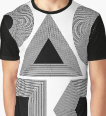 Set of Different Geometric Shapes Isolated on White Background Graphic T-Shirt
