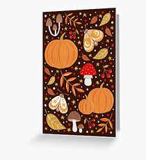 Autumn elements Greeting Card