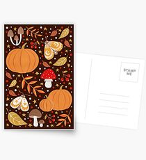 Herbst Elemente Postkarten