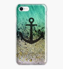 Anchored to the shore iPhone Case/Skin