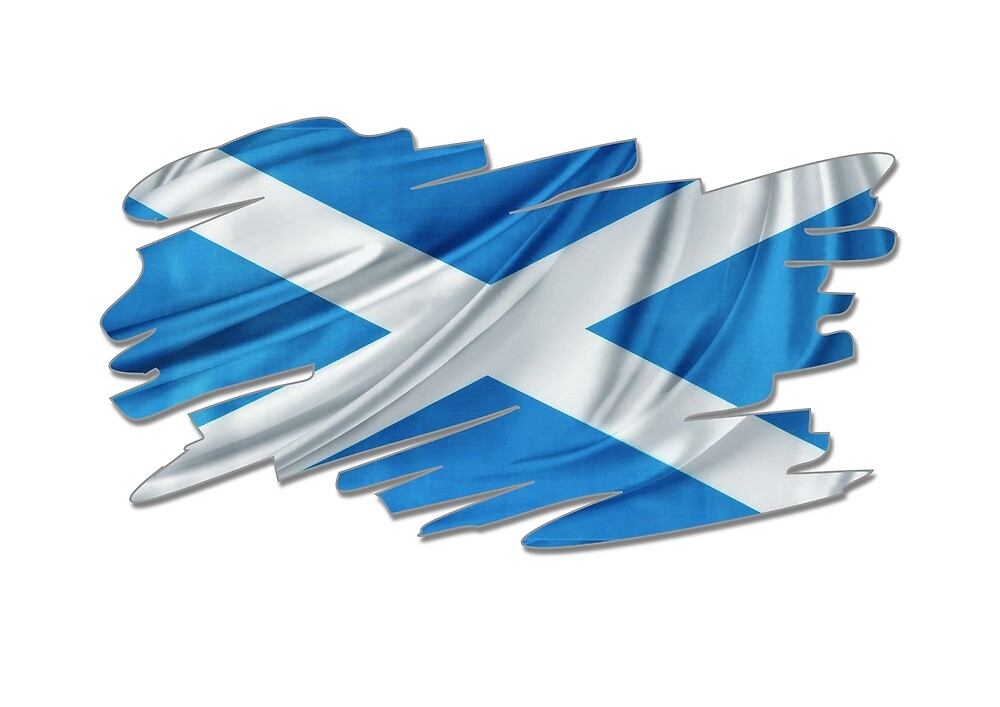 Scottish Flag, Saltire, Funky Scotland Flag by Reign-Man