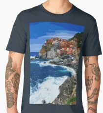 Italy, beautiful Manarola Men's Premium T-Shirt