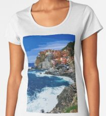 Italy, beautiful Manarola Women's Premium T-Shirt