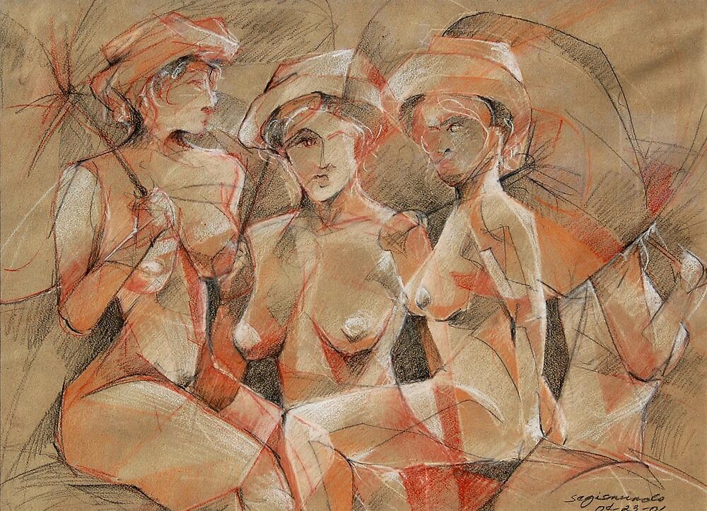 four sensual umbrellas by gerardo segismundo