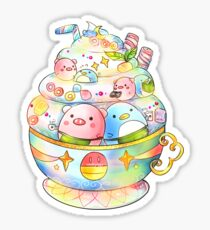 Piggy & Penguin's Latte Sticker