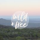 Wild and free serene landscape by Amanda Bussio