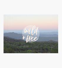 Wild and free serene landscape Photographic Print