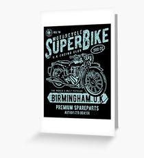 Motorcycle Superbike Retro Vintage Greeting Card