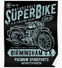 Motorcycle Superbike Retro Vintage Poster