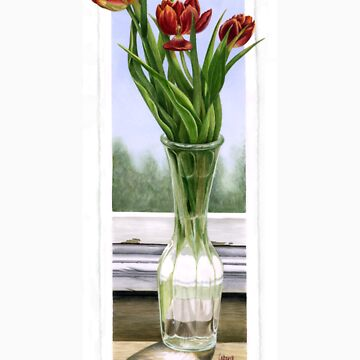 """Three Tulips"" by JudithBakerArt"