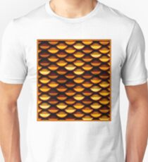 CHAIN MAIL : Colorful Golden Print T-Shirt