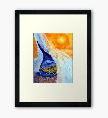 Watercan Flow Over Framed Print