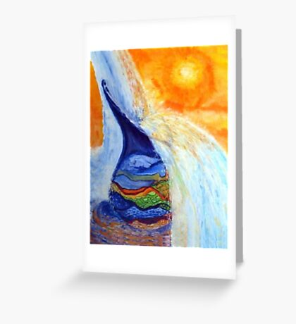 Watercan Flow Over Greeting Card