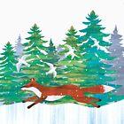 Christmas Fox by Maria Burns