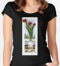 """""""Three Tulips"""" Women's Fitted Scoop T-Shirt"""