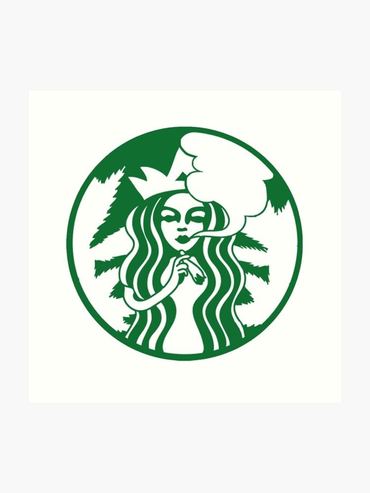 Stoner Starbucks Logo Kunstdruck