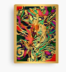 Brushed Gold abstract art Canvas Print