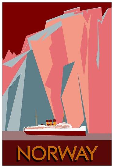 Norwegen-Fjorde Retro- Weinleseart-Kreuzfahrtreise von aapshop