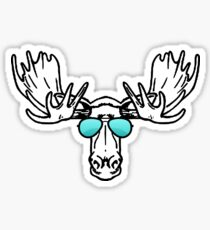 Too cool for school Moose  Sticker