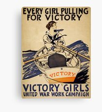 Vintage poster - Victory Girls Canvas Print