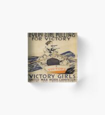 Vintage poster - Victory Girls Acrylic Block