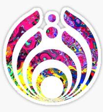 Bassnectar-Bassdrop w trippy pink background Sticker