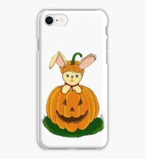 Bunny with Pumpkin iPhone Case/Skin