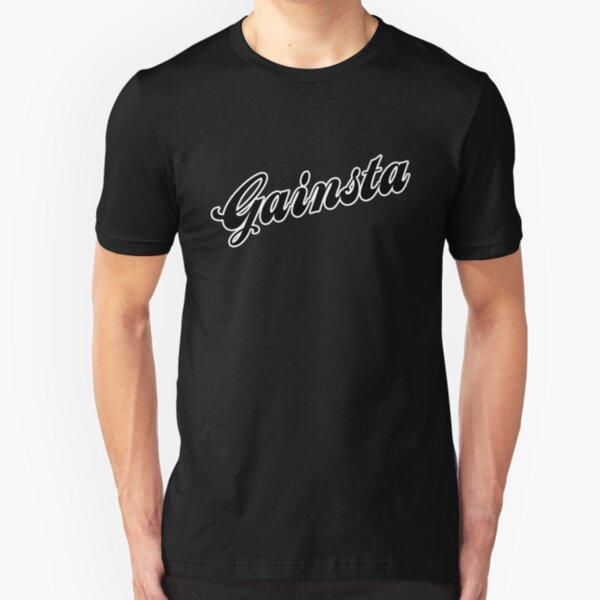 GAINSTA - Black Slim Fit T-Shirt