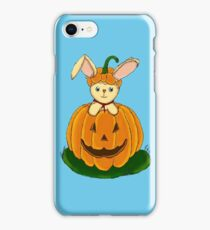 Bunny with Pumpkin - FOR BOYS iPhone Case/Skin