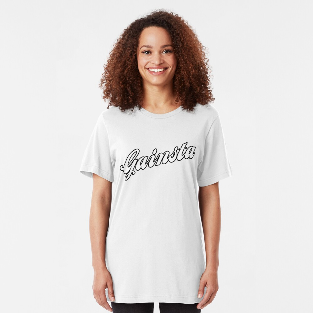 GAINSTA - White Slim Fit T-Shirt