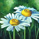 Two Daisies by John Wallie