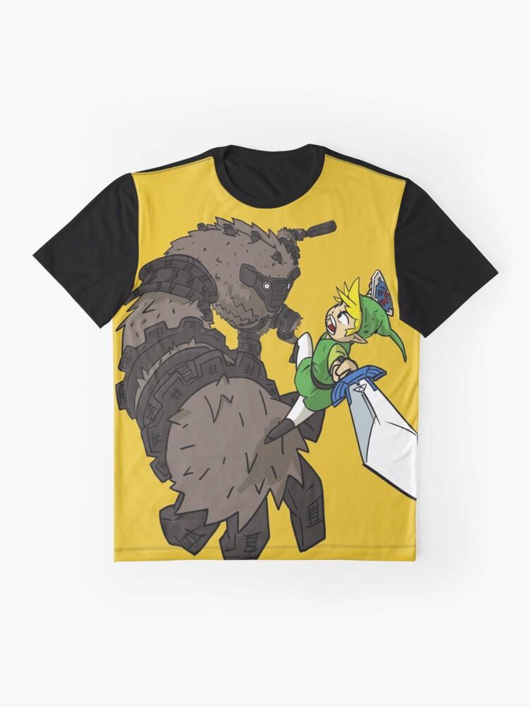 Vista alternativa de Camiseta gráfica Link y el Coloso