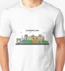 France, Paris City Skyline Design T-Shirt