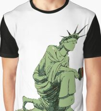 Statue of Liberty Kneeling Graphic T-Shirt