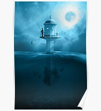 LIGHTHOUSE FISHING Poster
