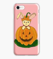 Bunny with Pumpkin - FOR GIRLS iPhone Case/Skin