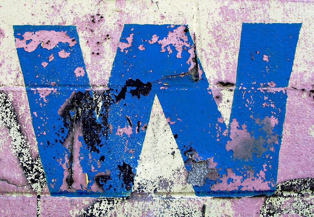 Blue W by Ethna Gillespie