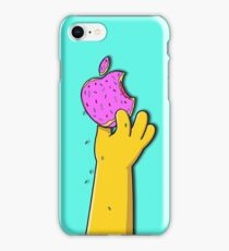 Apple Shaped Donut Simpsons hand iPhone Case/Skin