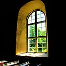 Old Viking Church Window - 3 by Barry W  King