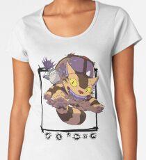 Totoro y Nekobus happy trip Camiseta premium de cuello ancho