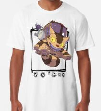 Totoro y Nekobus happy trip Camiseta larga