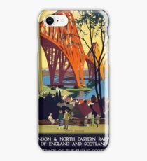 Vintage poster - Forth Bridge iPhone Case/Skin