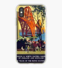Vintage poster - Forth Bridge iPhone Case