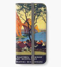 Vintage poster - Forth Bridge iPhone Wallet/Case/Skin