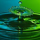 Green and Blue Splash by Mark Pelleymounter