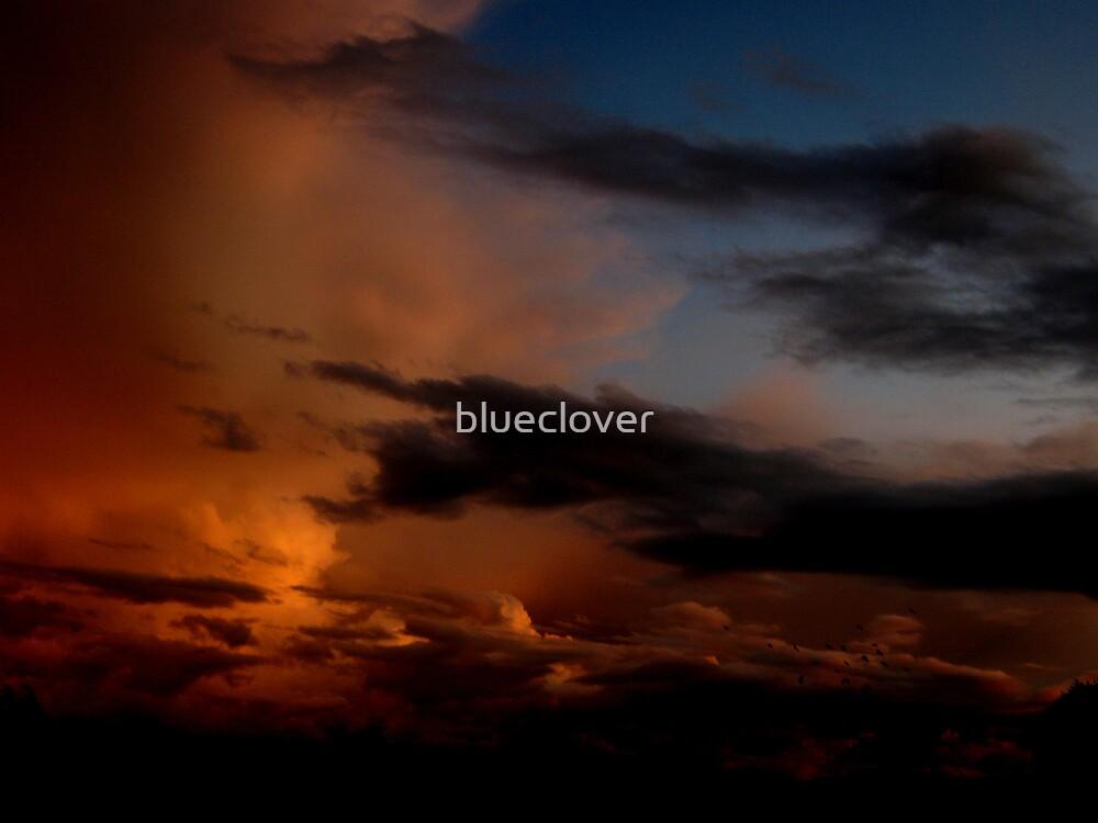 Dark Orange Clouds by blueclover