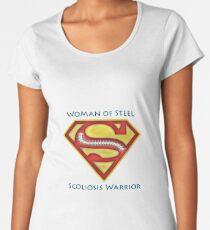 Woman of Steel - Scoliosis Awareness Women's Premium T-Shirt