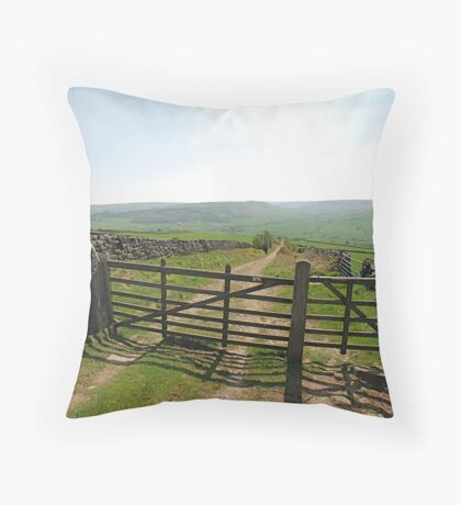 A View from Danby Beacon Throw Pillow
