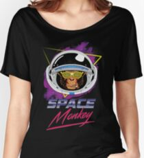 80s Space Monkey Comics style Women's Relaxed Fit T-Shirt